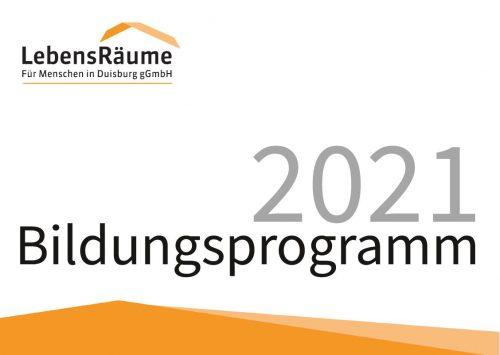 Deckblatt des Bildungsprogramms 2021.